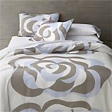 Marimekko Suudelma Grey Bed Linens