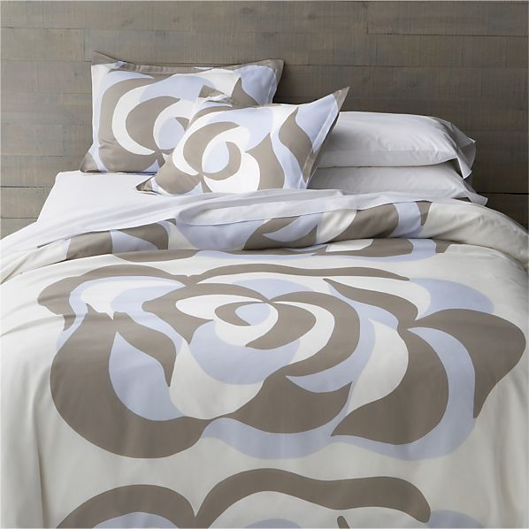 Marimekko Suudelma Grey Full/Queen Duvet Cover