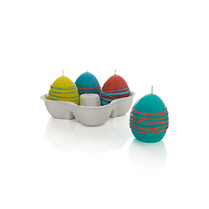 Set of 4 Swirl Egg Candles
