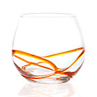 Swizzle Orange Drink Glass. 16 oz.