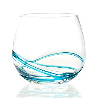 Swizzle Blue Drink Glass