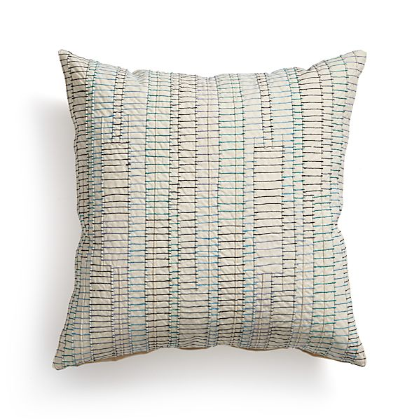 "Syd 18"" Pillow with Feather-Down Insert"