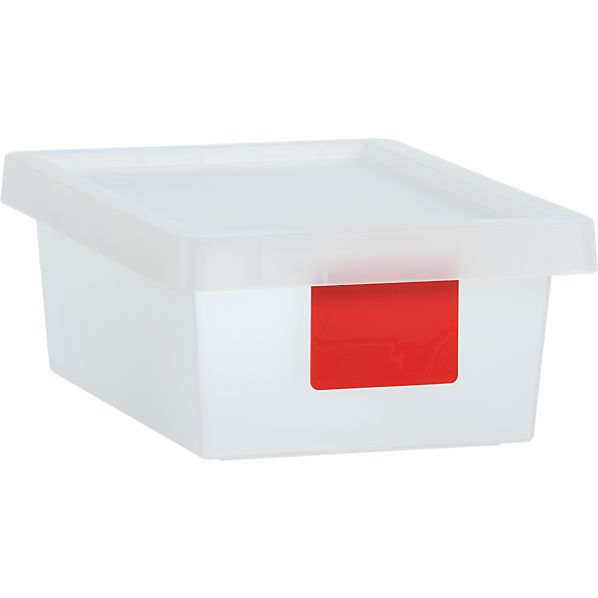 8 Liter Red Tag Store Bin