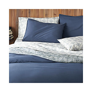 Tiago Stonewash Blue Duvet Covers and Pillow Shams