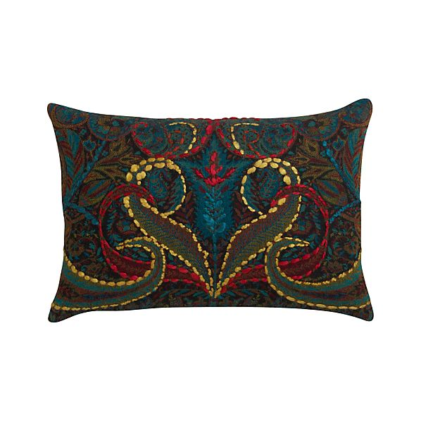 "Taj 18""x12"" Pillow with Feather-Down Insert"