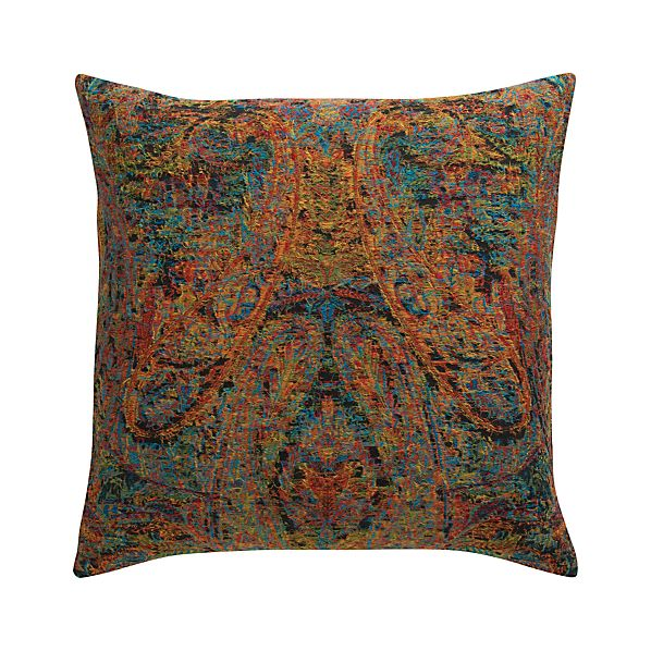 "Taj 23"" Pillow with Feather-Down Insert"