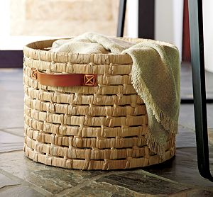 Tala Basket with Leather Handles