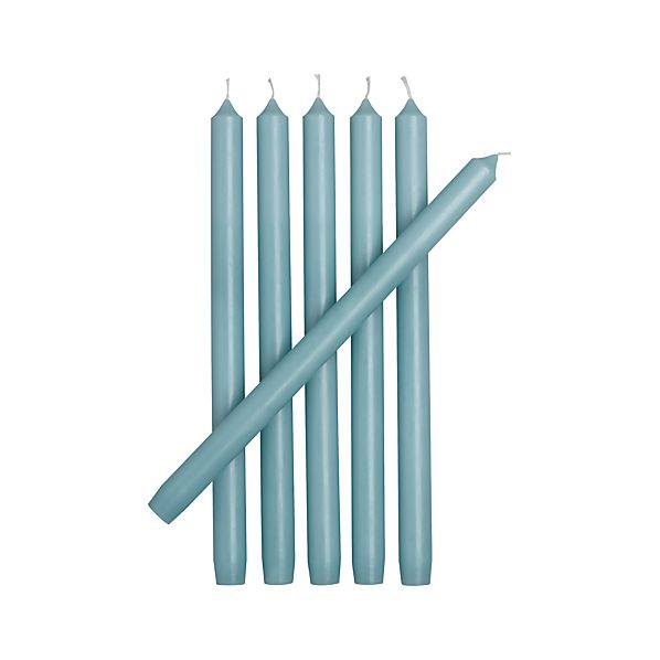 Set of 6 Aquatic Taper Candles