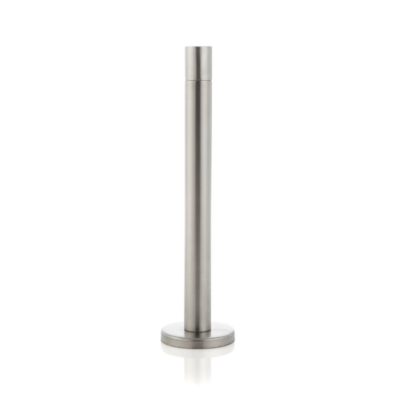 Sleek column mimics traditional taper candles, lighting the way to a totally modern torch. Stainless-steel torches are weighted with a concrete-filled base. Synthetic wicks last for the life of the lamp and need no replacing.<br /><br /><NEWTAG/><ul><li>Stainless steel with zinc finish</li><li>Concrete</li><li>Synthetic wick</li><li>Burns mineral or citronella oil (not included)</li><li>For outdoor use only</li><li>Made in India</li></ul>