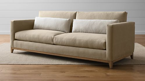 Taraval 2-Seat Sofa with Oak Base