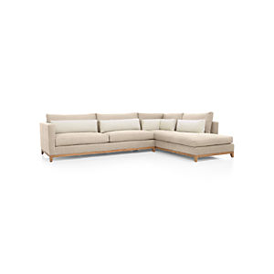 Taraval 2-Piece Sectional Bumper with Oak Base