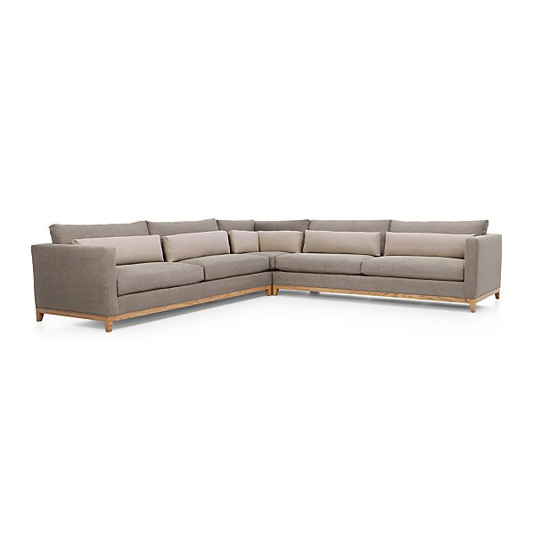 Taraval 3-Piece Sectional with Oak Base