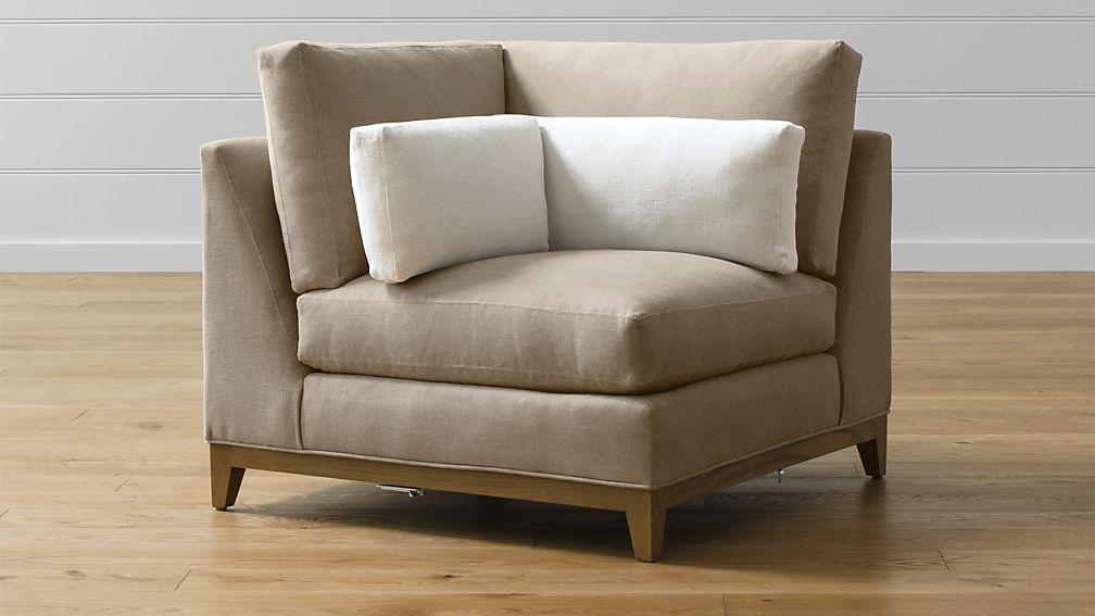 Taraval Corner Chair with Oak Base