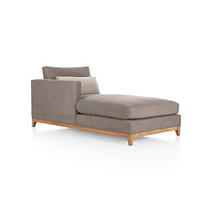 Taraval Sectional Left Arm Chaise with Oak Base