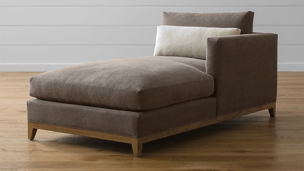Taraval Sectional Right Arm Chaise Lounge with Oak Base