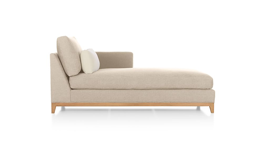 Taraval Right Arm Chaise Lounge with Oak Base
