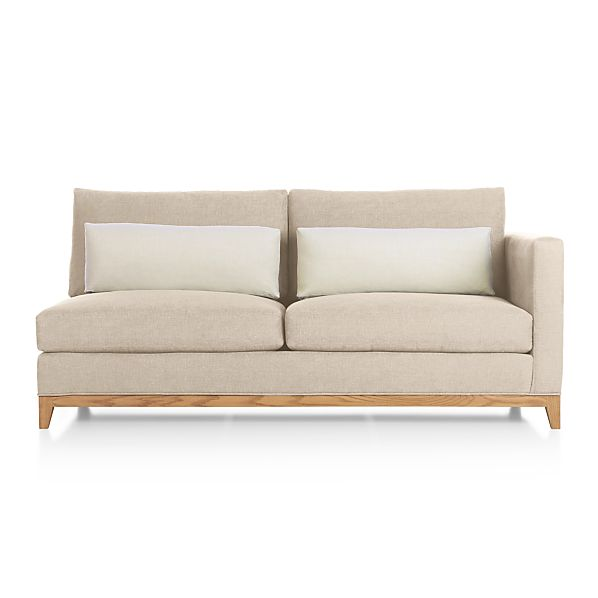 Taraval Sectional Right Arm Loveseat with Oak Base