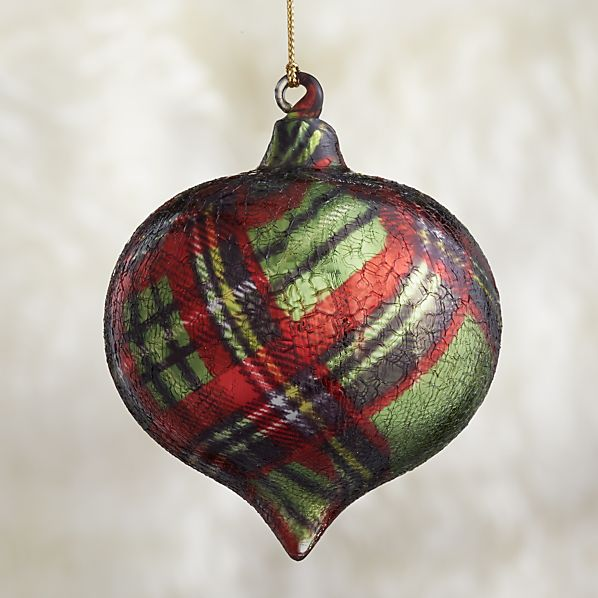 Tartan Onion Ornament