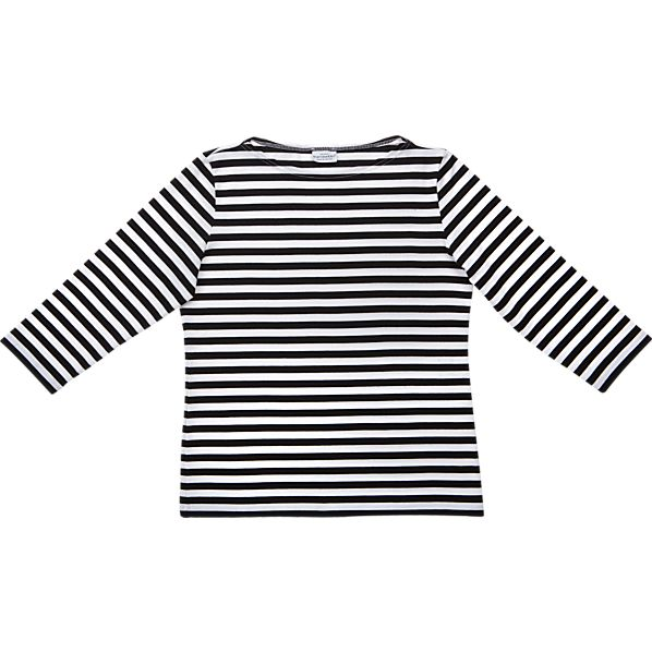 Marimekko Tasaraita Ilma Black and White 3/4-Sleeve Large Tee