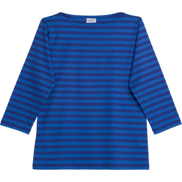 Marimekko Tasaraita Ilma Blue 3/4-Sleeve Medium Tee