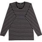 Marimekko Tasaraita Pitkähiha Black and Grey Unisex Tee. Medium