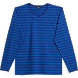Marimekko Tasaraita Pitkhiha Blue Unisex X-Small Tee