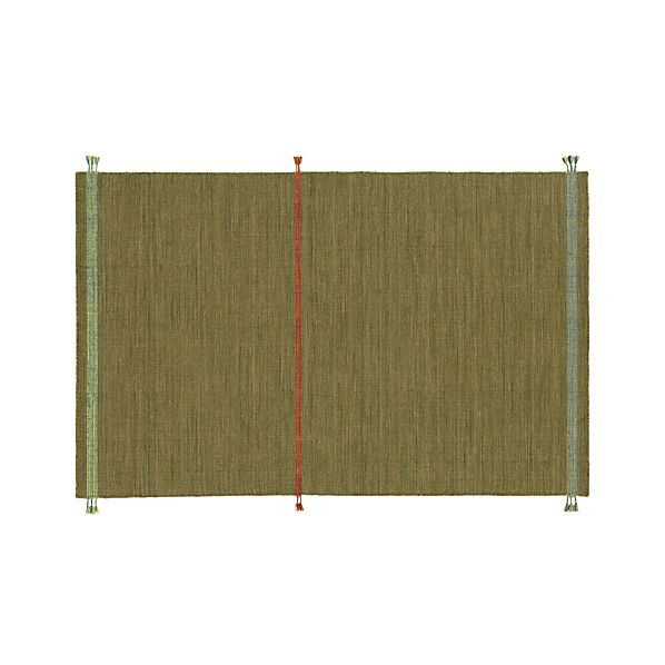 Tassel Green 5'x8' Rug