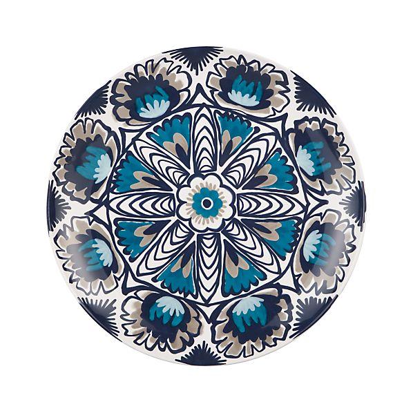 "Tavira 19.25"" Ceramic Platter"