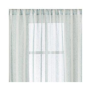 Teal Linen Stripe Curtains
