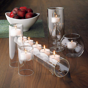 Clear-Cupped White Tealight Candles Set of 12