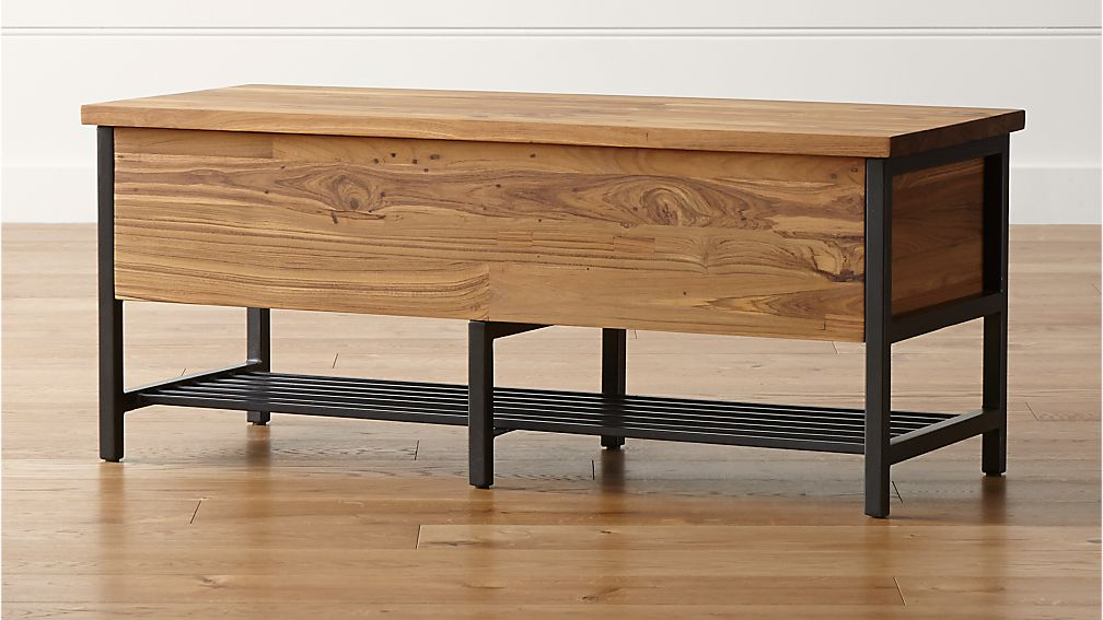 Teca Storage Trunk Bench In Benches Crate And Barrel