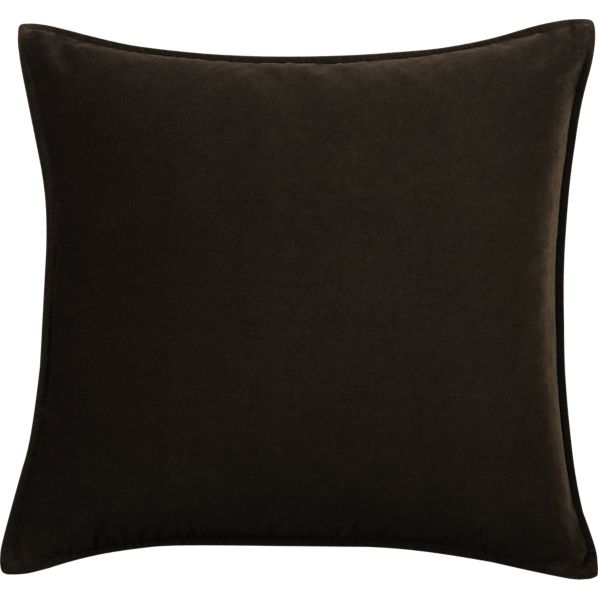 "Tempo Velvet Chocolate 20"" sq. Pillow"