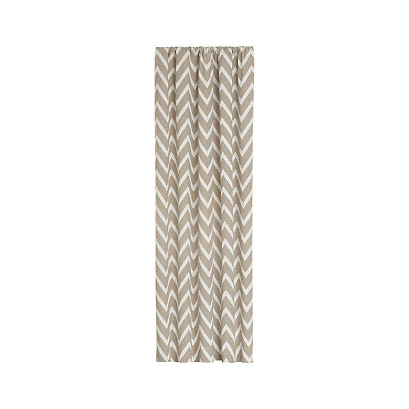 Teramo Neutral Chevron Curtain Panels