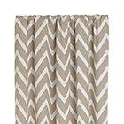 Teramo Neutral Chevron Curtain Panel.