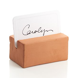 Terra Cotta Placecard Holder