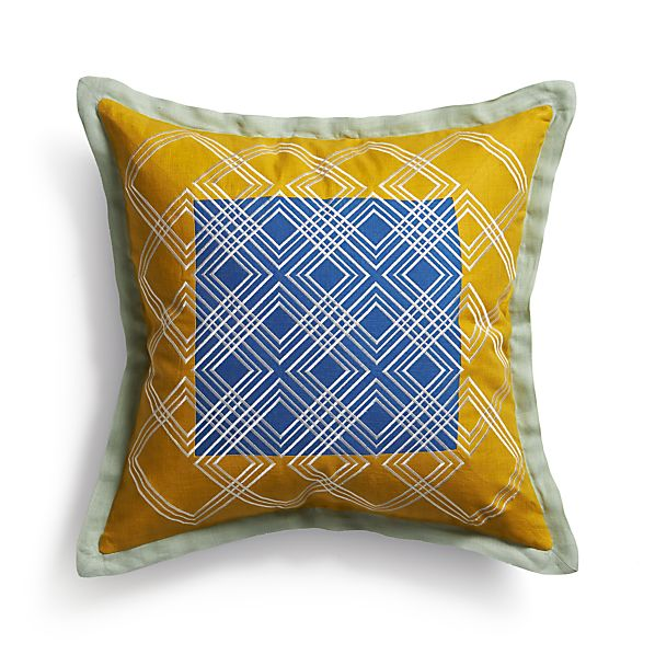 "Tessa Blue 20"" Pillow"
