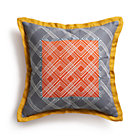 Tessa Orange Pillow with Feather Insert.