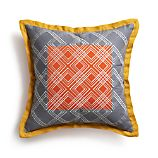 "Tessa Orange 20"" Pillow with Down-Alternative Insert"