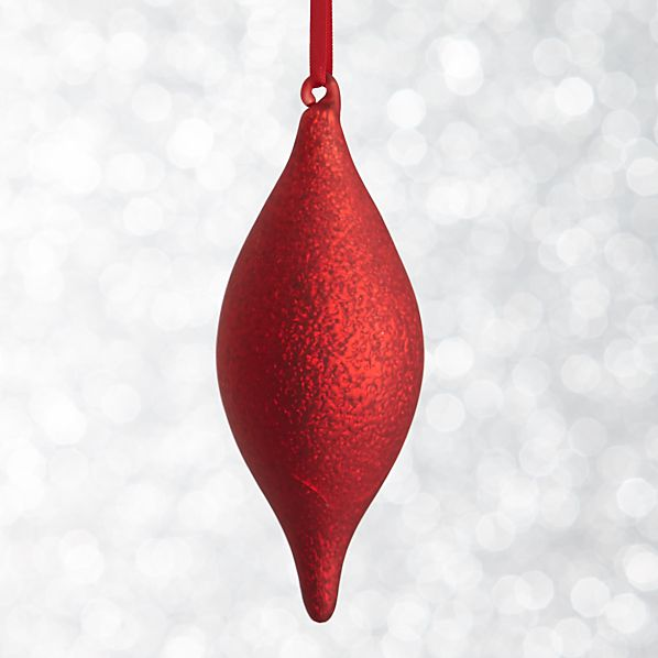 Red Textured Drop Ornament