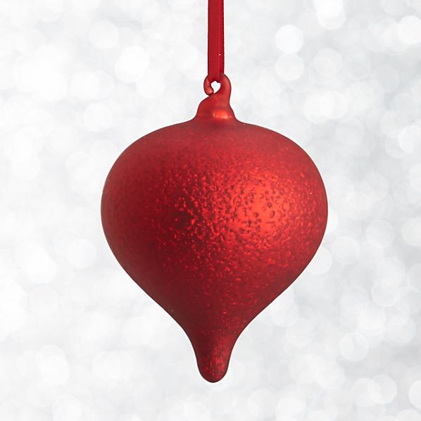 Red Textured Onion Ornament