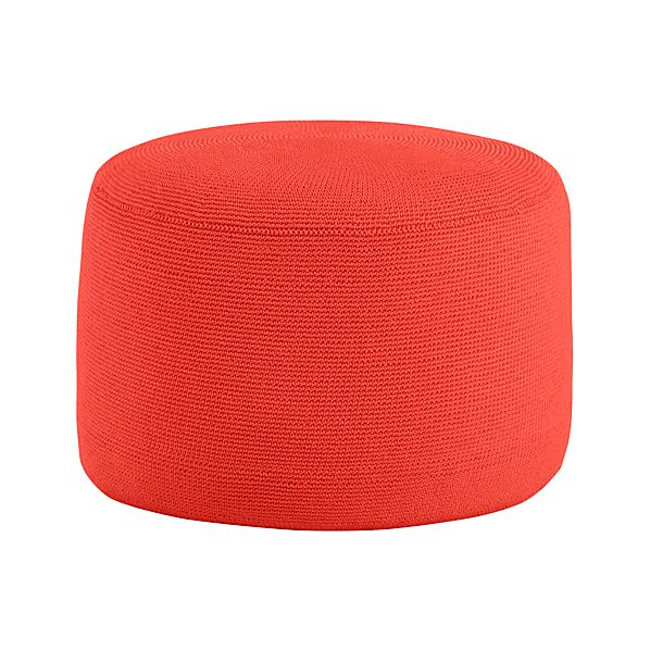 Outdoor Paprika Pouf