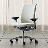 Steelcase ® Think ™ Chalk White Leather Office Chair