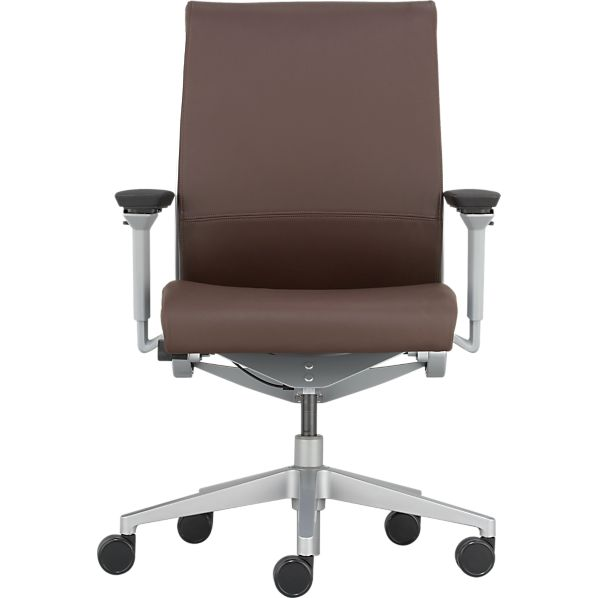 steelcase think leather office chair in office chairs crate