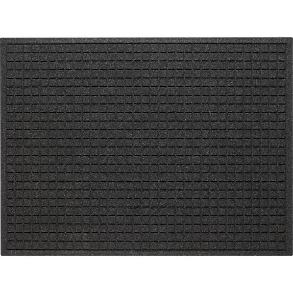 """Thirsty Squares ® Charcoal 35""""x46"""" Mat"""