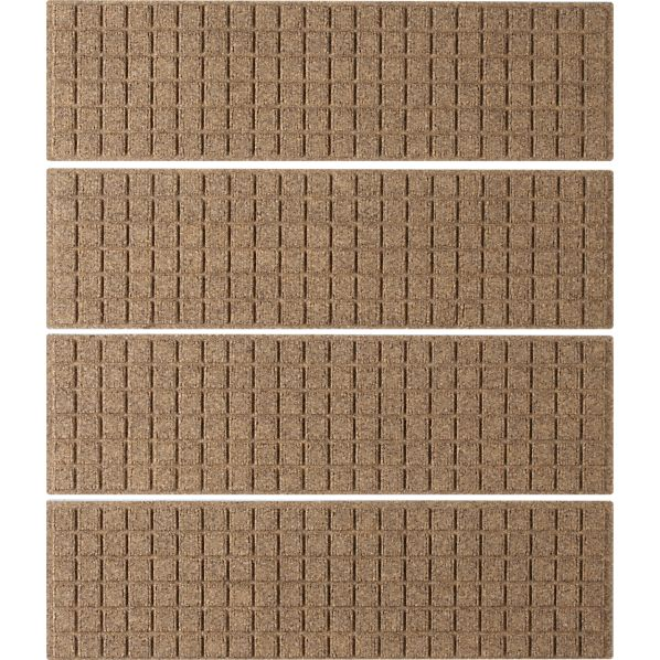 Set of 4 Thirsty Squares® Natural Stair Treads