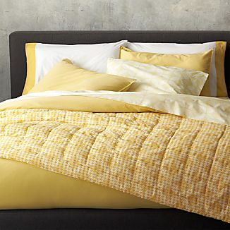 Tiago Stonewash Yellow Duvet Covers and Pillow Shams
