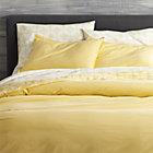 Tiago Stonewash Yellow Twin Duvet Cover.