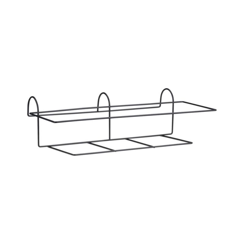 "Optional iron hook holds the Zinc Rectangular Rail Planter, Bronze Rectangular Rail Planter, or Tidore Rectangular Rail Planter and easily affixes to railings or fences up to 2.75"" wide.<br /><br /><NEWTAG/><ul><li>Iron with powdercoat finish</li><li>Accommodates rails up to 2.75"" wide</li><li>Made in China</li></ul>"