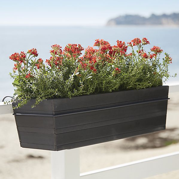 Tidore Rectangle Planter and Rail Planter Hook