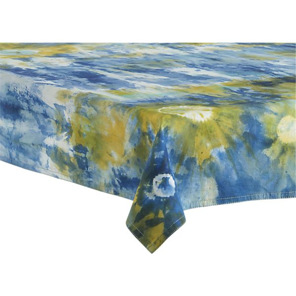 "Tie Dye 36""x36"" Picnic Tablecloth"